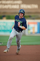 Vermont Lake Monsters Kyle McCann (33) running the bases during a NY-Penn League game against the Aberdeen IronBirds on August 19, 2019 at Leidos Field at Ripken Stadium in Aberdeen, Maryland.  Aberdeen defeated Vermont 6-2.  (Mike Janes/Four Seam Images)