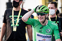 Sam Bennett (IRE/Deceuninck-Quick Step) wins the bunchsprint into Paris and still can't believe it as he rewatches it on the big screen...<br /> <br /> Stage 21 from Mantes-la-Jolie to Paris (122km)<br /> <br /> 107th Tour de France 2020 (2.UWT)<br /> (the 'postponed edition' held in september)<br /> <br /> ©kramon