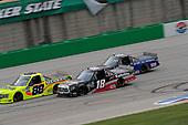 #88: Matt Crafton, ThorSport Racing, Ford F-150 Ideal Door/Menards #18: Christian Eckes, Kyle Busch Motorsports, Toyota Tundra Safelite AutoGlass