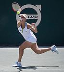 April 10,2016:   Elena Vesnina (RUS) loses to Sloane Stephens (USA) 7-6, 6-2, at the Volvo Car Open being played at Family Circle Tennis Center in Charleston, South Carolina.  ©Leslie Billman/Tennisclix/Cal Sport Media