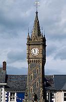 Großbritannien, Wales, Machynlleth, Uhrturm.clocktower in Machynlleth