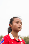 China PR plays against Thailand during the AFC U-16 Women's Championship China 2015 Group A match at the Xinhua Road Stadium on 08 November 2015 in Wuhan, China. Photo by Aitor Alcalde / Power Sport Images
