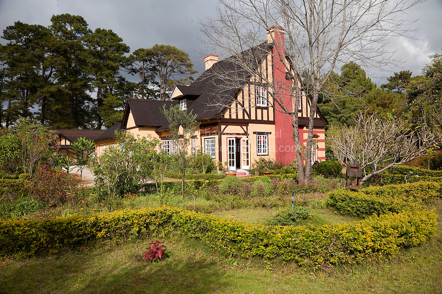 """Myanmar, Burma, Kalaw.  Tudor architecture (""""Amara Resort"""") is found in this hill station from former British colonial times."""