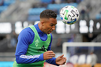 SAN JOSE, CA - MARCH 7: Danny Hoesen #9 of the San Jose Earthquakes during a game between Minnesota United FC and San Jose Earthquakes at Earthquakes Stadium on March 7, 2020 in San Jose, California.