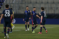 WIENER NEUSTADT, AUSTRIA - MARCH 25: Sebastian Lletget #17 of the United States celebrates scoring during a game between Jamaica and USMNT at Stadion Wiener Neustadt on March 25, 2021 in Wiener Neustadt, Austria.