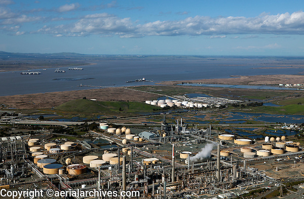 aerial photograph of the Shell Refinery, Martinez, Contra Costa County, California