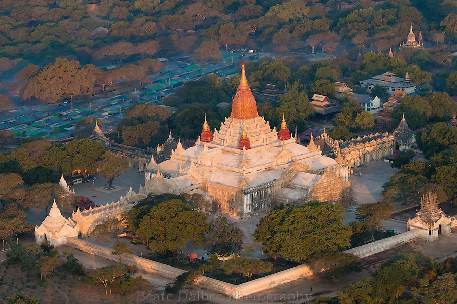 Aerial view of the Ananda pagoda, Bagan, Myanmar