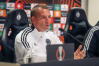 29th September 2021: Warsaw, Poland: UEFA Europa League football, press conference for Leicester City:  Manager Brendan Rodgers