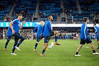 San Jose, CA - March 3, 2018. San Jose Earthquakes defeated Minnesota United FC 3-2 during a Major League Soccer (MLS) match at Avaya Stadium on Saturday.