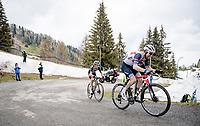 Bauke Mollema (NED/Trek-Segafredo) & George Bennett (NZL/Jumbo-Visma) up the final part of the Monte Zoncolan <br /> <br /> 104th Giro d'Italia 2021 (2.UWT)<br /> Stage 14 from Cittadella›Monte Zoncolan (205km)<br /> <br /> ©kramon