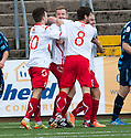 Stranraer's Sean Winter (right) is congratulated after he scores their first goal.