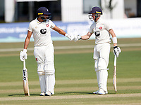 Jack Leaning (L) and Jordan Cox of Kent during Kent CCC vs Sussex CCC, Bob Willis Trophy Cricket at The Spitfire Ground on 9th August 2020