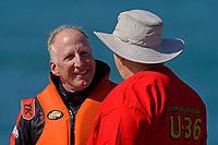 """Mark Weber, U-36 """"Miss U. S."""" (1956 Lauterbach Hydroplane) and Jay Armstrong"""