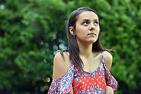 """Pictured: Cherelle Farrugia, aged 25, a young mum who became allergic to water after giving birth to her daughter.<br />Re: A young mum became allergic to water after giving birth has described how the rare condition has made her life a """"nightmare"""".<br />Cherelle Farrugia, from Cardiff, south Wales gave birth to baby Willow in November 2017 but after six weeks she developed a painful rash every time she had a shower.<br />It took three months for doctors to diagnose her with aquagenic urticaria, a condition which leads to hives developing rapidly after the skin comes into contact with water.<br />The Cardiff and Vale College student is unable to take her daughter swimming and even has to cover up when it rains.<br />There is currently no cure for the severe allergy which is thought to have affected just 35 people worldwide but doctors believe it is linked to changes in Cherelle's hormones after giving birth to Willow."""