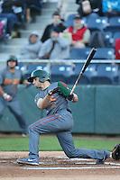 Mark Zagunis #6 of the Boise Hawks bats against the Everett AquaSox at Everett Memorial Stadium on July 25, 2014 in Everett, Washington. Everett defeated Boise, 2-1. (Larry Goren/Four Seam Images)