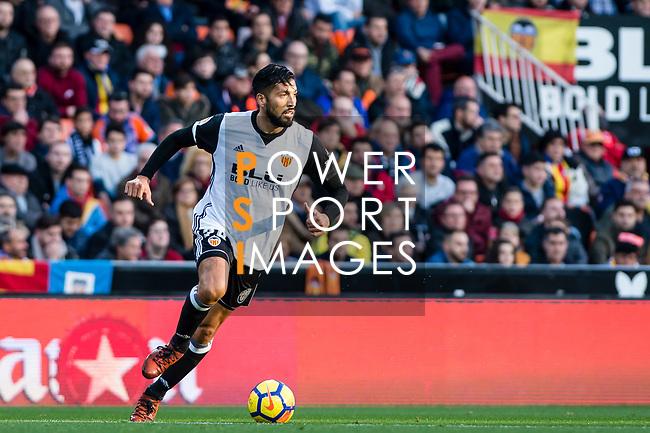 Ezequiel Garay of Valencia CF in action during the La Liga 2017-18 match between Valencia CF and Villarreal CF at Estadio de Mestalla on 23 December 2017 in Valencia, Spain. Photo by Maria Jose Segovia Carmona / Power Sport Images