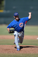 Chicago Cubs pitcher Sam Wilson (43) during an Instructional League game against the San Francisco Giants on October 18, 2013 at Giants Baseball Complex in Phoenix, Arizona.  (Mike Janes/Four Seam Images)