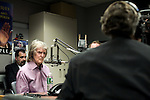 """Monday, April 9,  2007, New York, New York..Controversial radio talk show host Don Imus, went on the Al Sharpton radio show to discuss Imus' comments about the Rutger's women's basketball team. Imus referred to the players as """"nappy headed ho's"""" spurring accusations of racism which led to his dismissal from CBS radio.. Imus and Sharpton square off about the situation and Imus' comments."""