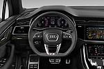 Car pictures of steering wheel view of a 2020 Audi Q7 S-Line 5 Door SUV Steering Wheel