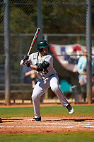 Dartmouth Big Green Ubaldo Lopez (26) bats during a game against the Omaha Mavericks on February 23, 2020 at North Charlotte Regional Park in Port Charlotte, Florida.  Dartmouth defeated Omaha 8-1.  (Mike Janes/Four Seam Images)