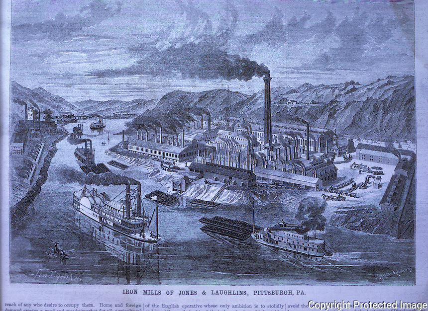 Technology: Jones & Laughlin Iron Mills, Pittsburgh. SCI AM Jan. 23, 1869.