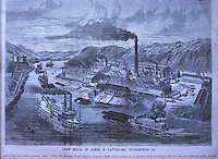 Technology: Jones & Laughlin Iron Mills, Pittsburgh. SCI AM Jan. 23, 1869.