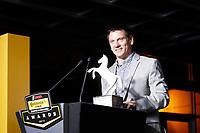 IMSA Continental Tire SportsCar Challenge<br /> Series Awards Banquet<br /> Road Atlanta, Braselton GA<br /> Friday 6 October 2017<br /> Mark Miller with the Continental Extreme Spirit Award<br /> World Copyright: Michael L. Levitt<br /> LAT Images