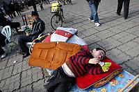 CHINA. Jiangxi Province.  Jiujiang. A young boy in a park.  Jiujiang is a city of 4.6 million people, located on the southern shore of the Yangtze River. 2008