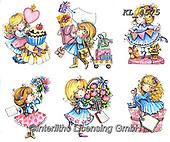 Interlitho-Theresa, CHILDREN, KINDER, NIÑOS, paintings+++++,gurls,KL4575,#k#, EVERYDAY ,angel,angels ,sticker,stickers