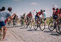 Vincenzo Nibali (ITA/Bahrain-Merida) at the end of pavé sector #9<br /> <br /> Stage 9: Arras Citadelle > Roubaix (154km)<br /> <br /> 105th Tour de France 2018<br /> ©kramon
