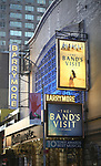 Tony Winning Theatre Marquee for David Yazbek with the Alexandria Ceremonial Police Orchestra  during 'The Band's Visit'  Post-Show Jam celebrating the 10 Time Tony Award Winning Best Musical at the Barrymore Theatre on June 12, 2018 in New York City.