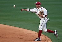 Playing in the rain Bo Bigham (12);March 10th, 2010; South Dakata State University vs Arkansas Razorbacks at Baum Stadium in Fayetteville Arkansas. Photo by: William Purnell/Four Seam Images