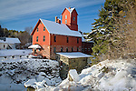 The Old Red Mill / Chittenden Mill, a National Historic Site, Jericho, VT, USA
