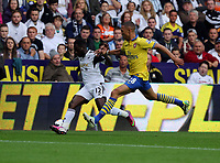 Saturday 28 September 2013<br /> Pictured L-R: Nathan Dyer of Swansea marked by Keiran Gibbs of Arsenal.<br /> Re: Barclay's Premier League, Swansea City FC v Arsenal at the Liberty Stadium, south Wales.