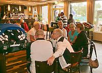 August 22, 2014, Netherlands, Amstelveen, De Kegel, National Veterans Championships, clubhouse atmosphere<br /> Photo: Tennisimages/Henk Koster