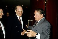 FILE - le chef du Bloc Quebecois et Bernard Landry dans les annees , mai 1996
