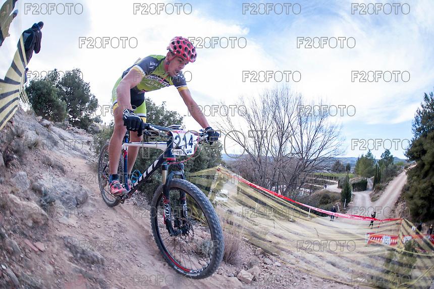 Chelva, SPAIN - MARCH 6: Roberto Santana during Spanish Open BTT XCO on March 6, 2016 in Chelva, Spain
