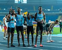1st May 2021; Silesian Stadium, Chorzow, Poland; World Athletics Relays 2021. Day 1; Botswana Team qualify in the 4 x 400m mens heats as Scotch, Masilo, Makwala and Nzamani pose