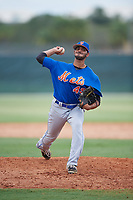 GCL Mets relief pitcher Eric Villanueva (49) delivers a pitch during a game against the GCL Cardinals on July 23, 2017 at Roger Dean Stadium Complex in Jupiter, Florida.  GCL Cardinals defeated the GCL Mets 5-3.  (Mike Janes/Four Seam Images)