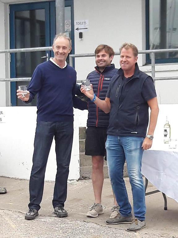 Peter Kennedy (4th placed helm), Peter Chamberlain and Stephen Kane (4th placed crew).
