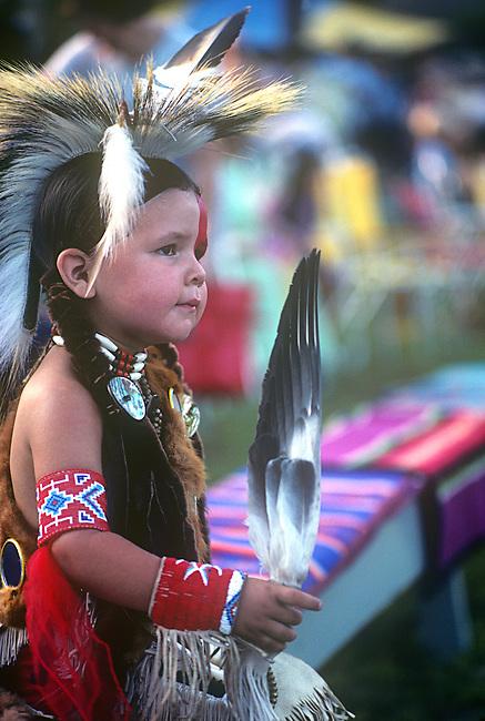 Native American Boy, Devil's Promenade, July 4th,  Quapaw, Oklahoma