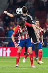 Atletico de Madrid Saul Niguez and Qarabag Michel during UEFA Champions League match between FK Qarabag and Atletico de Madrid at Wanda Metropolitano in Madrid, Spain. October 31, 2017. (ALTERPHOTOS/Borja B.Hojas)