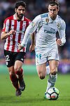 Gareth Bale (R) of Real Madrid fights for the ball with Raul Garcia Escudero of Athletic Club de Bilbao during the La Liga 2017-18 match between Real Madrid and Athletic Club Bilbao at Estadio Santiago Bernabeu on April 18 2018 in Madrid, Spain. Photo by Diego Souto / Power Sport Images