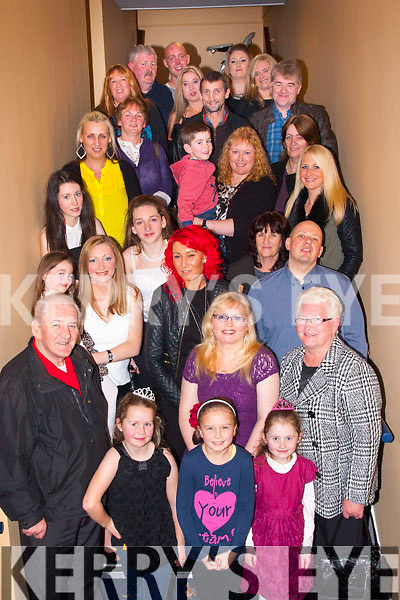 Fab 40<br /> --------<br /> Jacinta O'Connor,Baherbue,Tralee,front centre,had a fab night in the kingdom greyhound Stadium,Tralee last Saturday night celebrating her 40th birthday along with many friends and family.