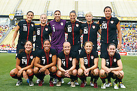 14 MAY 2011: The USA WNT starting eleven before the International Friendly soccer match between Japan WNT vs USA WNT at Crew Stadium in Columbus, Ohio.
