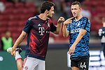 Bayern Munich Defender Mats Hummels (L) talks to FC Internazionale Forward Ivan Perisic (R) during the International Champions Cup match between FC Bayern and FC Internazionale at National Stadium on July 27, 2017 in Singapore. Photo by Weixiang Lim / Power Sport Images