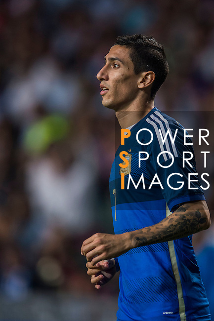 Angel Di Maria of Argentina in action during the HKFA Centennial Celebration Match between Hong Kong vs Argentina at the Hong Kong Stadium on 14th October 2014 in Hong Kong, China. Photo by Aitor Alcalde / Power Sport Images