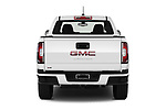 Straight rear view of 2021 GMC Canyon Elevation-Standard 4 Door Pick-up Rear View  stock images