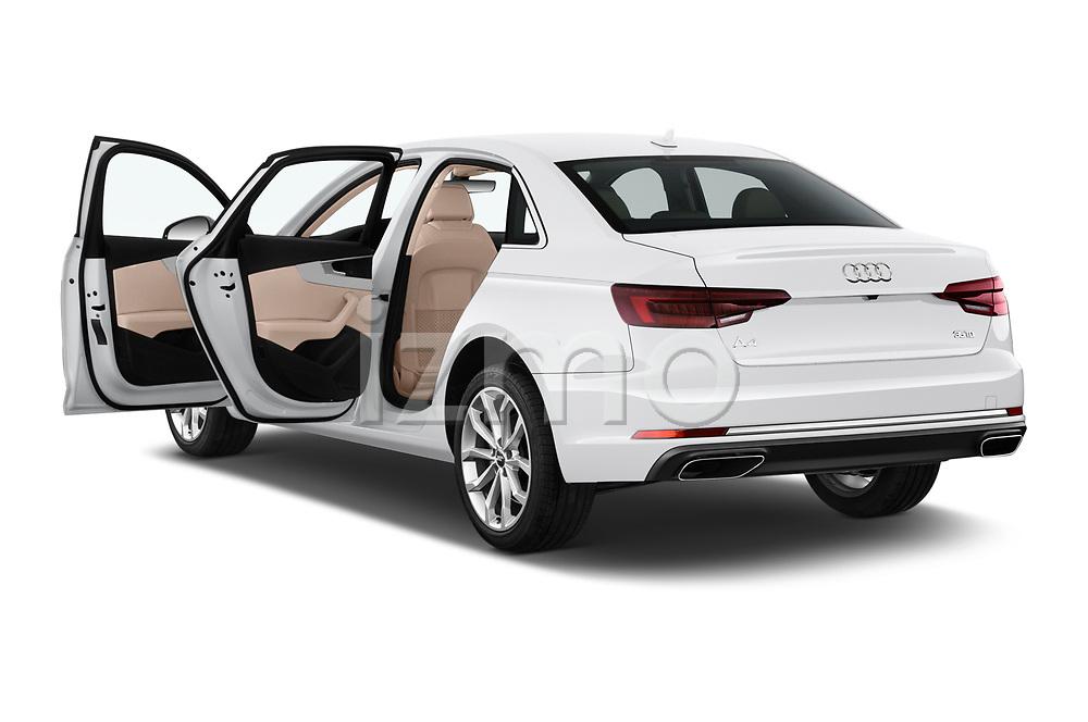 Car images close up view of a 2019 Audi A4 Premium 4 Door Sedan doors