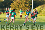Southern Gaels Megan O'Connell blasts this shot over the bar giving Mid-Kerry's Mairead Lehane no chance to block.